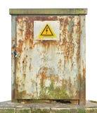 Unidade exterior do painel do painel de comando da fiação da distribuição de poder, velha Fotografia de Stock