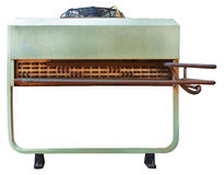 Unidade externo do condicionador de ar para o fundo industrial Imagem de Stock