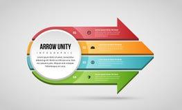 Unidade Infographic da seta ilustração royalty free