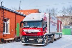 Unidade móvel de transporte da entrega e do sangue Fotografia de Stock
