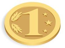 Unidade monetária do ouro Ilustração Stock