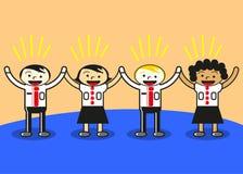 Unidade no negócio ilustração royalty free