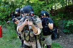 Unidade policial especial no treinamento Imagens de Stock Royalty Free