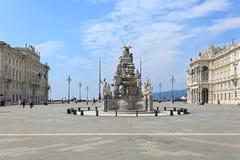 Unidade Trieste quadrado Imagem de Stock Royalty Free