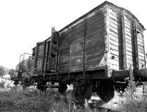 Unidades abandonadas del tren Imagenes de archivo