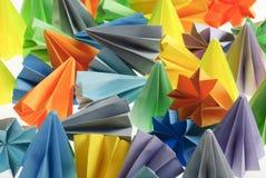 Unidades coloridas del origami Fotografía de archivo