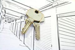 Unidades de armazenamento do auto com chaves Fotografia de Stock Royalty Free