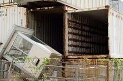 Unidades de armazenamento vazias Imagem de Stock