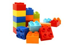 Unidades de creación coloridas del lego Imagen de archivo