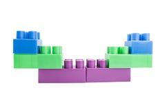 Unidades de creación de Lego en un fondo blanco Fotos de archivo