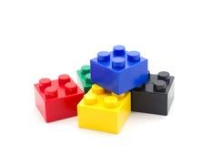 Unidades de creación del plástico de Lego fotografía de archivo libre de regalías