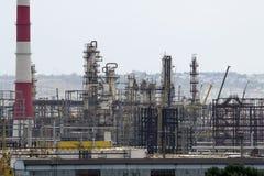 Unidades de la refinería de petróleo Imagen de archivo