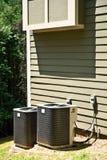 Unidades del acondicionador de aire en casa Imágenes de archivo libres de regalías