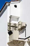 Unidades del acondicionador de aire en la pared Imagen de archivo libre de regalías