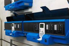 Unidades do controlo automático para a casa de caldeira industrial do gás Foto de Stock Royalty Free