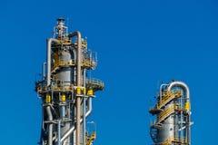 Unidades para la producción de ácido nítrico en la planta del fertilizante imagen de archivo