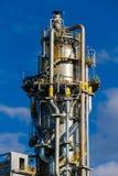 Unidades para la producción de ácido nítrico en la planta del fertilizante foto de archivo libre de regalías