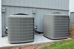 Unidades residenciales de la HVAC Imagen de archivo