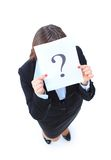 Unidentifiable business woman isolated Royalty Free Stock Photos