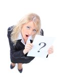 Unidentifiable business woman isolated Royalty Free Stock Photography