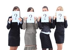 Unidentifiable business women Stock Photo