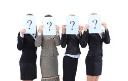 Unidentifiable business women Royalty Free Stock Photos