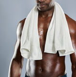 Unidentifiable chest of Black man Stock Image