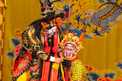 Unidentified actors of the Beijing Opera Troupe. BEIJING - NOVEMBER 16: Unidentified actors of the Beijing Opera Troupe perform the famous story Journey to the stock photos