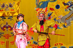 Unidentified actors of the Beijing Opera Troupe Stock Photos