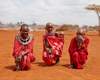 Unidentified African women from Kenya Royalty Free Stock Photos