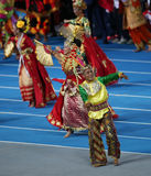 Unidentified artiste show the Indonesia culture. INCHEON - SEP 4:Unidentified artiste Royalty Free Stock Photo