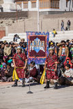 Unidentified artists in Ladakhi costumes Stock Photo