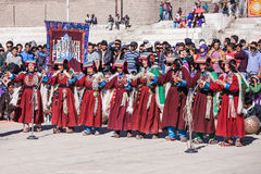 Unidentified artists in Ladakhi costumes Royalty Free Stock Photo