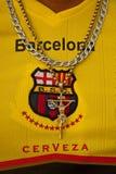 Unidentified Barcelona Sporting Club fan wearing a Stock Photography