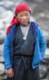 unidentified barn för flickastående Fotografering för Bildbyråer