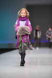 Unidentified beautiful child model walk catwalk Stock Images