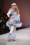 Unidentified beautiful child model wear fashions Royalty Free Stock Image