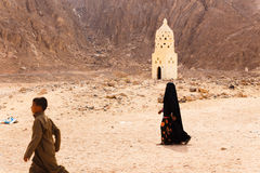 Unidentified bedouin children in the village Stock Images