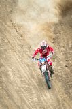 An unidentified bike rider. BUZAU, ROMANIA - JUNE 15: An unidentified rider participates in the World Endurocross Championship on June 15, 2013 at Maracineni in Stock Photos