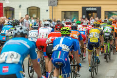 Unidentified bikers racing on streets of Zagreb Stock Photo