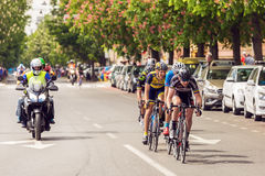 Unidentified bikers racing on streets of Zagreb Royalty Free Stock Photos