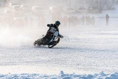 Unidentified bikers during the semi-final individual rides Stock Photography