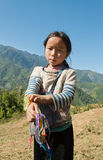 Unidentified Black Hmong tribe girls. Sapa. Vietnam Royalty Free Stock Photos