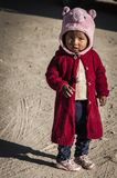 Unidentified Bolivian child on Isla del Sol, on the Titicaca lake, the largest highaltitude lake in the world 3808 mt - Bolivia royalty free stock photo