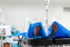Unidentified boy undergoing a surgery. Stock Image