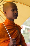 Unidentified Buddhist monk Stock Images