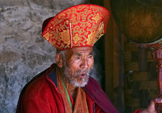 A unidentified Buddhist priest Royalty Free Stock Photography