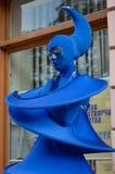 Unidentified busking mimes. TERNOPIL, UKRAINE - AUGUST 27: Unidentified busking mimes perform on the opening restored Valova street on August 27, 2012 in stock photography