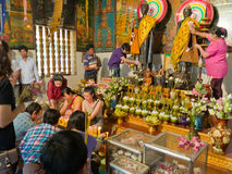 Unidentified Cambodians worshiping Buddha Stock Images