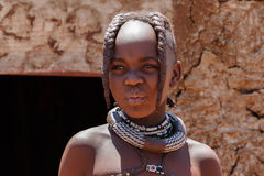 Unidentified child Himba tribe in Namibia Stock Image